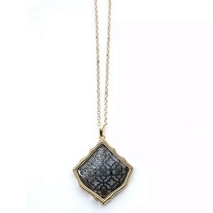 Long Filigree Pendant Necklace